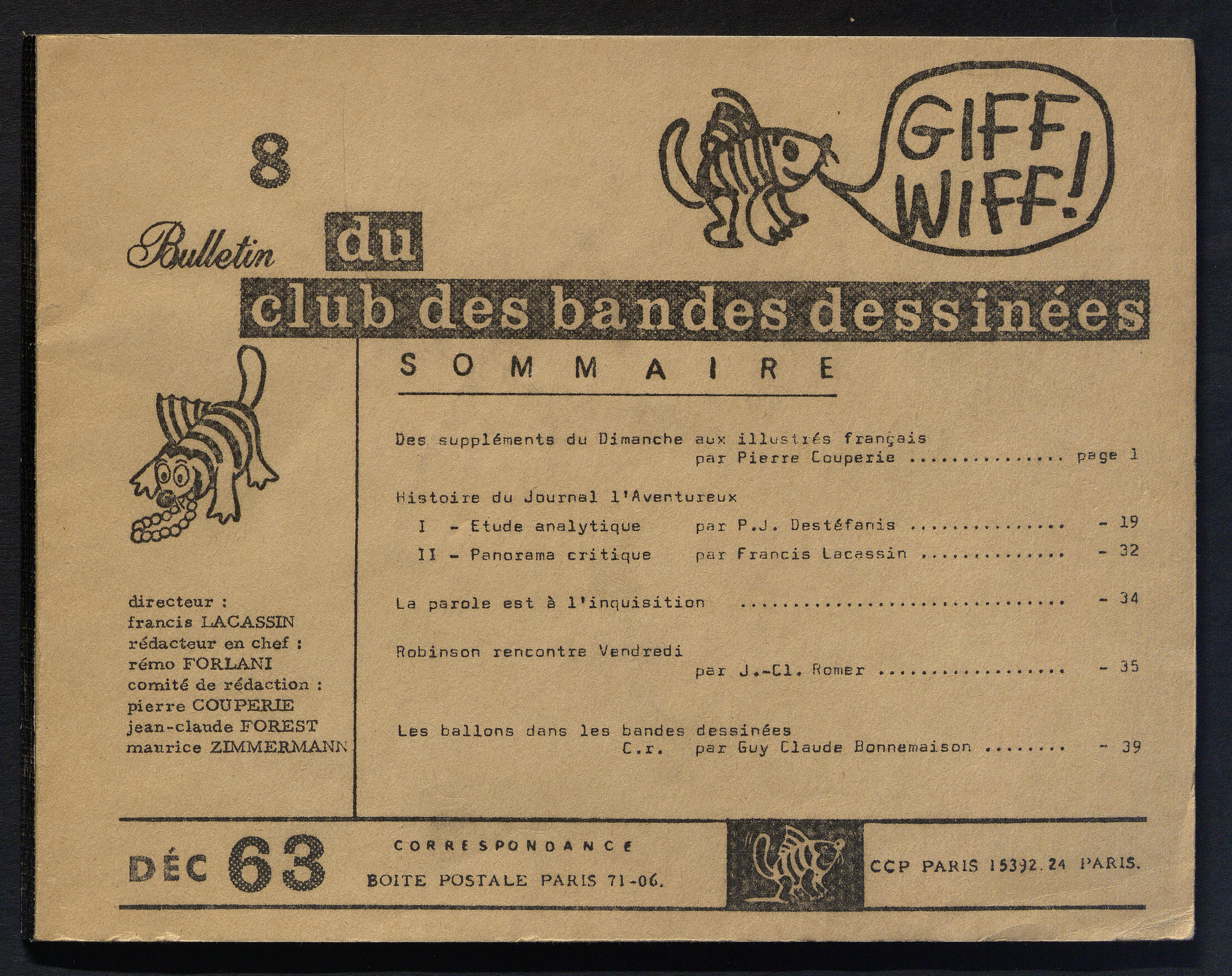 GIFF-WIFF, N°8, décembre 1963